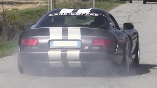 Dodge Viper GTS w/ Magnaflow Side Exhaust - Burnouts, Revs & Accelerations!!