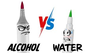 ALCOHOL Vs. WATER (Markers) - Which is best?...