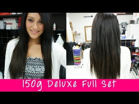 Instant beautys 150g deluxe full set clip in hair extensions instant beautys 150g deluxe full set clip in hair extensions apply them yourself pmusecretfo Choice Image