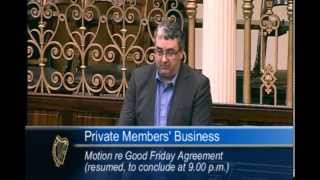 Thomas Pringle speaks on Good Friday Agreement motion in Dáil