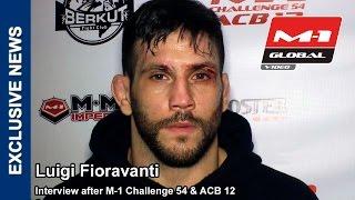 Luigi Fioravanti interview | ������ ����������: ������� - ������� �����, M-1 Challenge 54