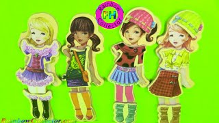 Fashion-A-Belles Wooden Magnetic Dress-Up Dolls