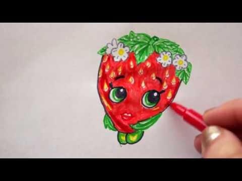 Obst Und Gemüse Zeichnen Früchte Malen Erdbeere Kirsch Apfel