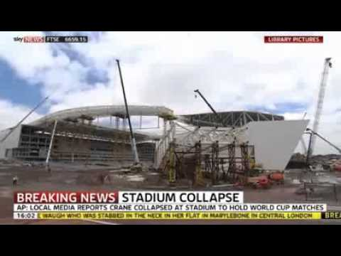 Brazil World Cup Stadium Collapse Sao Paulo Kills Three