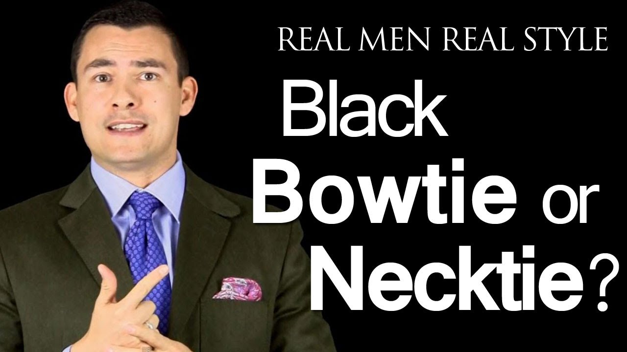 Black Bow Ties or A Black Necktie - Which Tie Style When Wearing A ...