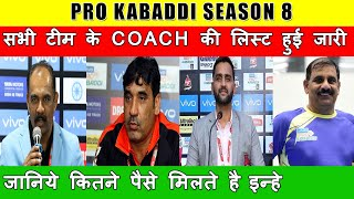 Pro Kabaddi 2020 : ALL 12 TEAMS HEAD COACHES LIST & SALARY