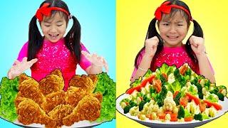 Eat Vegetables Song | Jannie Pretend Play Sing-Along Nursery Rhymes & Kids Songs