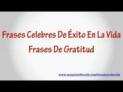 Frases Celebres De Exito En La Vida Frases De Gratitud