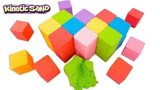 DIY How to Make Kinetic Sand Giant Rainbow Cube Learn Colors - Learning Colours Videos For Children