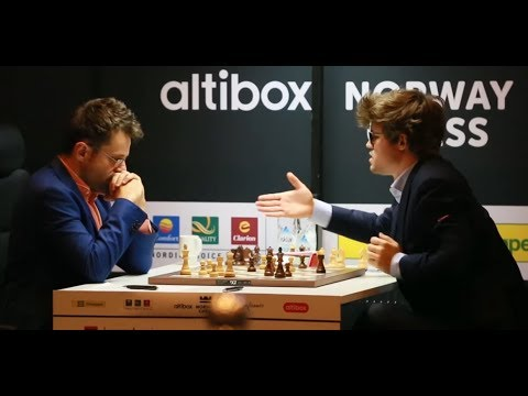 BRILLIANT VICTORY!!! LEVON ARONIAN CRUSHES MAGNUS CARLSEN - HIGHLIGHTS ENDGAME NORWAY 2017 ROUND 4