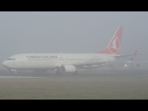 Turkish Airlines Boeing 737-9 Take off Dublin Airport