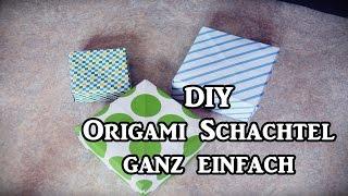 ❤ Diy ❤ Origami Schachtel Falten ❤ Ganz Einfach ❤ Idee Zum Geschenke Verpacken