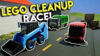 LEGO STREET CLEANING RACE CHALLENGE! - Brick Rigs Multiplayer Gameplay - Lego Garbage Truck Race
