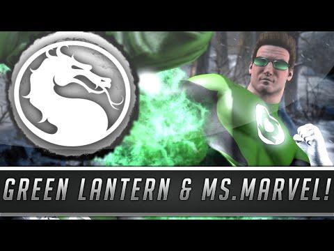 Mortal Kombat X: Green Lantern Johnny & Ms. Marvel Kitana Skins/Costumes Gameplay! (PC Mod Showcase)