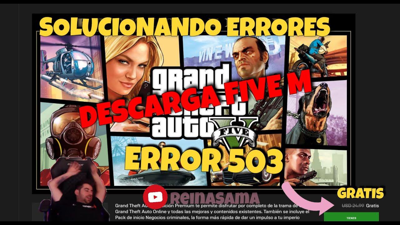 errores de fivem error 503 | errores de sesion | gta v ...