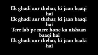 Ek Ghadi Lyrics from D Day HD