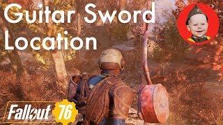 Fallout 76: Guitar Sword Location (Creepy Shack NE of Vault 76)