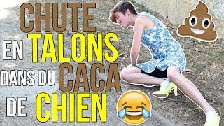 GROSSE CHUTE EN TALONS DANS DU CACA DE CHIEN!