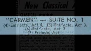 Скачать Bizet Herbert Von Karajan 1958 Carmen Suite No 1 Entr Acte Act 3