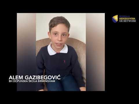 Sretan Dan nezavisnosti Bosne i Hercegovine želi vam srednja grupa BH dopunske škole Birmingham