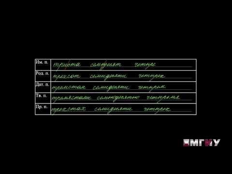 Руский язык. Выпуск 10. Морфологические нормы. Склонение числительных.