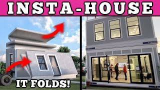 Build A House In 2 Hours?? Foldable Modular Homes