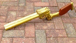 {MOD} Gold Nerf Double Barreled Shotgun Overview Video