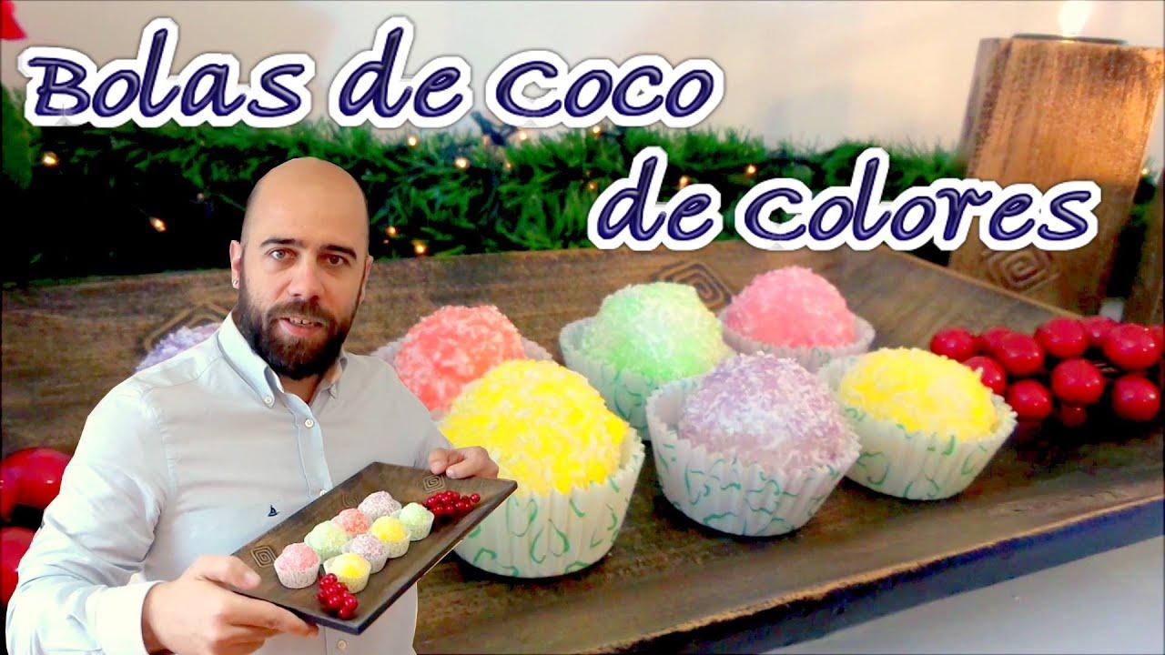 Bolas de coco navide as postres f ciles recetas navidad for Recetas de postres faciles
