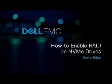 Enable RAID on NVMe drives by using Software RAID on Dell EMC's 14th generation of PowerEdge servers