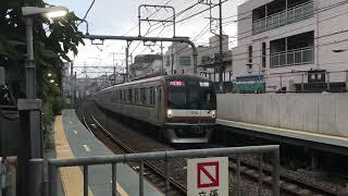 東京メトロ10000系10102F通勤特急元町中華街行き白楽駅通過