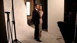 Behind the Scenes of the Suits Cover Shoot With Sarah Rafferty & Gabriel Macht