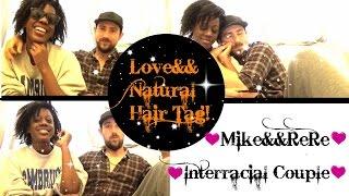love and natural hair tag  bwwm interracial couple