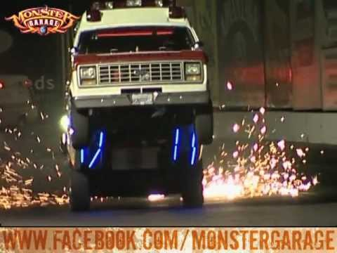 Monster Garage The Ambulance Wheelie Youtube