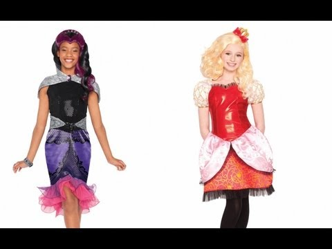 Apple White and Raven Queen Costumes! - YouTube