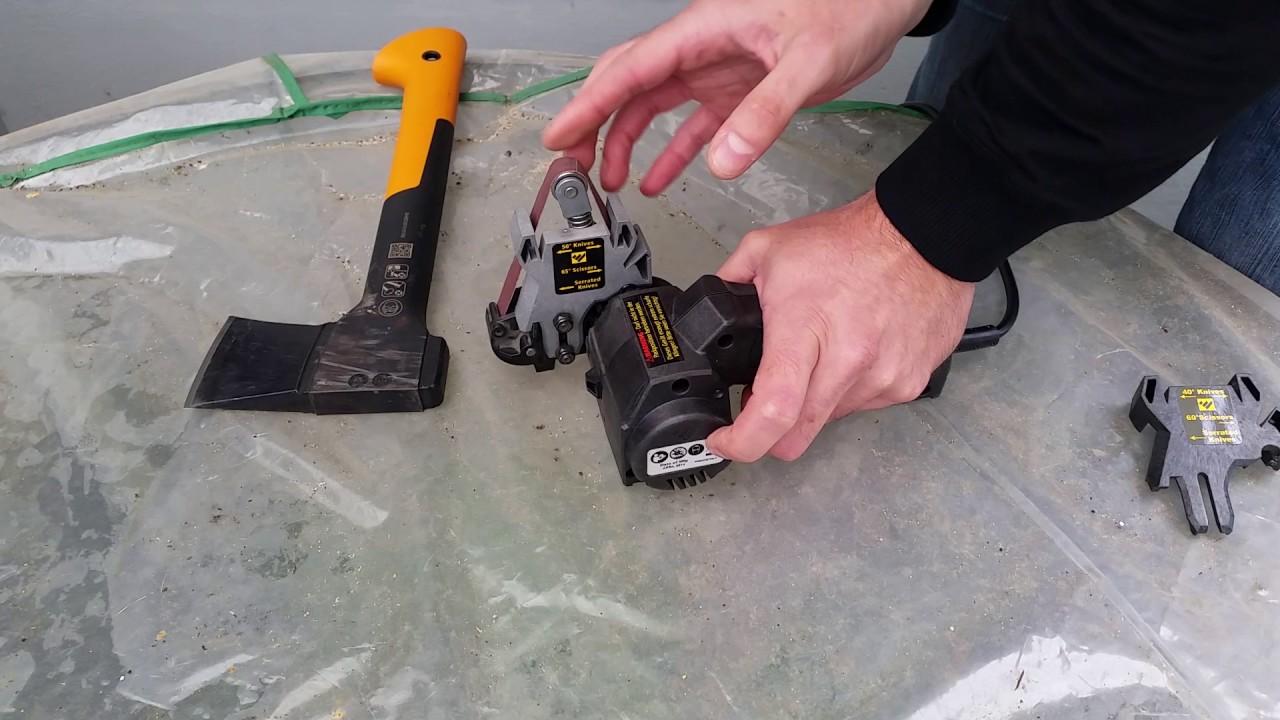 work sharp knife & tool sharpener: axt reparatur und schärfen - youtube