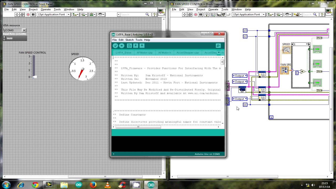 Automated control fan using labview with arduino part
