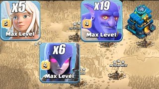 Th12 Attack Strategy 19 Max Bowler 6 Witch 5 Healer With Queen Walk 3 Star Compilation Town Hall 12