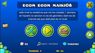 Mi Primer Nivel De GD 100% Verified Geometry Dash 2.11