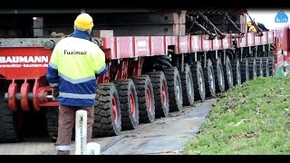 Schwertransport 450 Tonnen in Bewegung