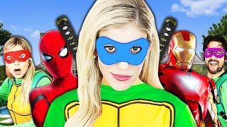 Giant Comic Book Masquerade Ball in Real Life to Save Game Master!  Rebecca Zamolo