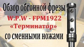 Обзор обгонной фрезы W.P.W FPM1922 «Терминатор», со сменными ножами