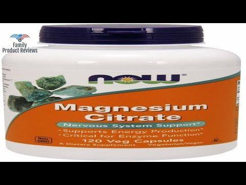 NOW Supplements Magnesium Citrate 120 Veg Capsules