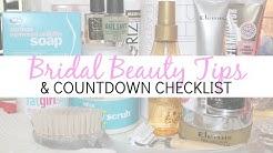 Bridal Beauty Tips & Countdown Checklist - Wedding Series
