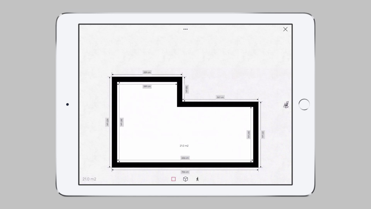 Draw Exact Wall Measurements Of Floor Plans With Roomle On Ipad Youtube