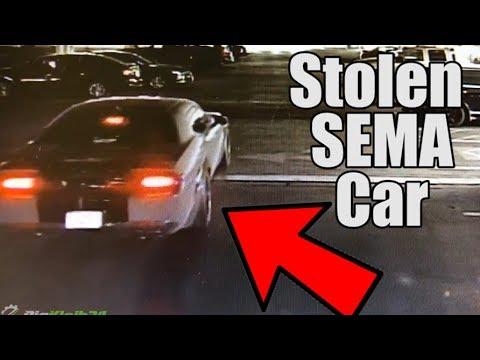 SEMA Car Stolen, Taken on Joyride (Wrecked on Security Camera)