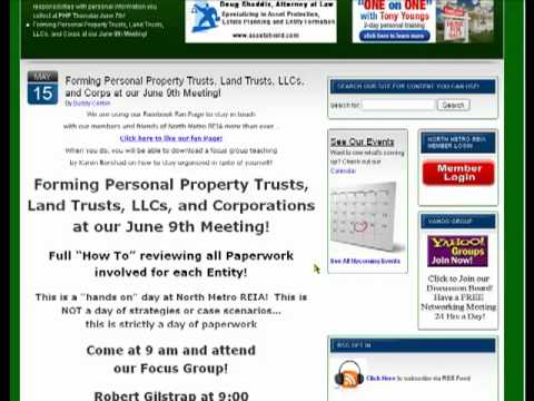 Forming Personal Property trusts, Land Trusts, LLC's and Corporations Tommorrow! buy, ...