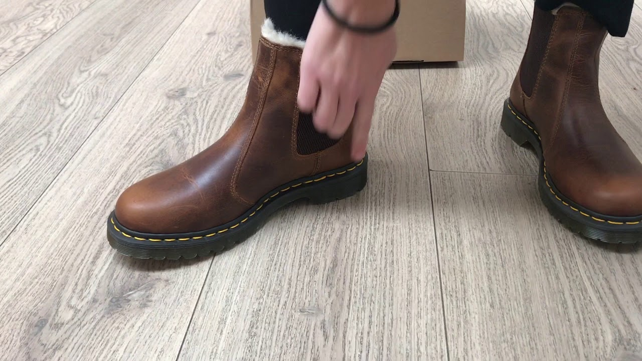 official first look wholesale price Dr. Martens 2976 Leonore Butterscotch