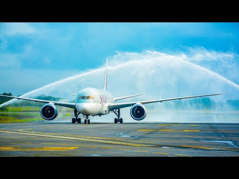 Taking people home to Lagos, Nigeria onboard our Boeing 787 Dreamliner | Qatar Airways