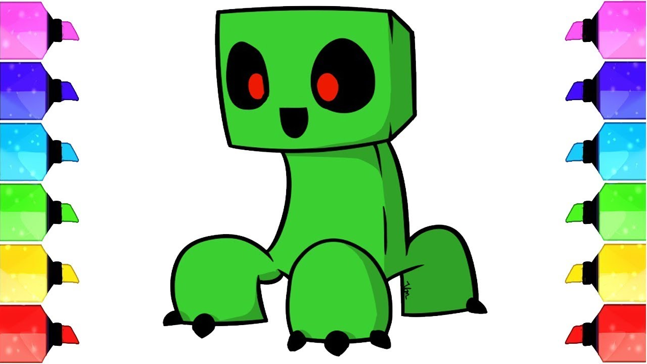 how to draw 3d floating creeper minecraft draw a minecraft