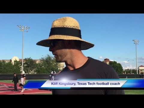 Texas Tech head football coach Kliff Kingsbury discusses running back Desmond Nisby